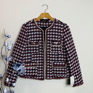 Zara Basic Tweed Blazer NWT